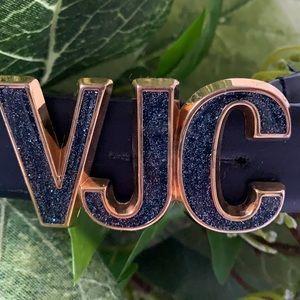 Vintage AUTHENTIC Versace Jeans Couture navy blue belt size XXS-XS